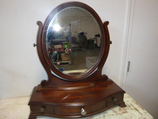 TABLE TOP MAKE-UP MIRROR W/ DRAWERS