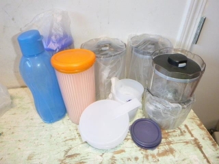 TUPPERWARE CONTAINERS, MOST NEW, SOME USED