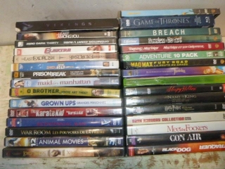 DVD'S; BREACH, GAME OF THRONES, MADMAX (~30)