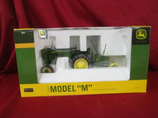 """John Deere 1947 Model""""M"""" tractor with two row planter"""