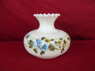 vintage hand painted glass shade