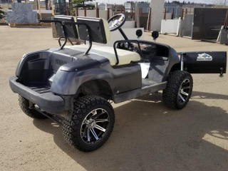 Golf Cart With Snow Blade & Oversize Tires