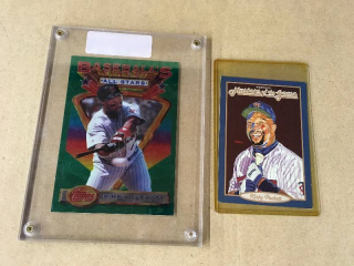 Two Oversized Kirby Puckett Cards