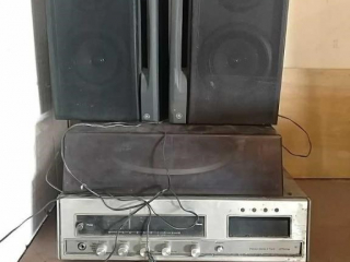 Turntable with FM AM stereo and 8-track player,