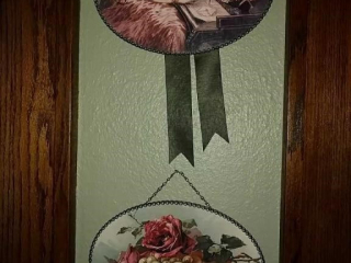 Vintage victorian pictures, with ribbon