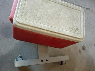 Coleman cooler, dolly