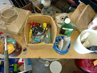 Contents of table top, electrical
