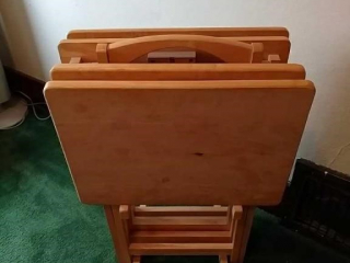 TV trays set of four with stand