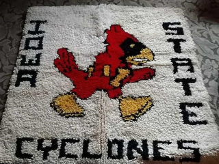 Iowa State cyclones latch hook rug