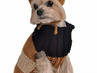 Max's Closet Dog Size 10 Gold Tricolor Sweater