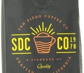 San Diego Coffee Kenya, Ground Roasted Coffee,