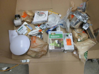 Large Mixed Lot: Lights, Electrical...