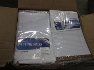 Case of White Ruled Legal Pads 6-12...