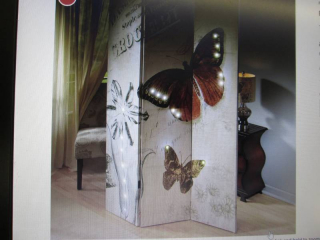 Butterfly Light Up Room Divider ope...