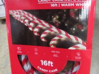 Lot of 4 - 16 ft Candy Cane Rope Li...