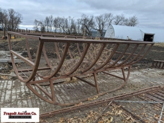 Double round bale feeder. Item is located near Mil