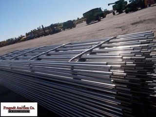 (10) 20?x6 bar continuous fence panels, with clips