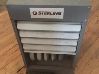 Sterling Hanging LP Furnace, 125,000 BTU, in worki