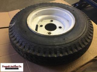 4 bolt treailer tire and rim, 480/4-8 tire on 8