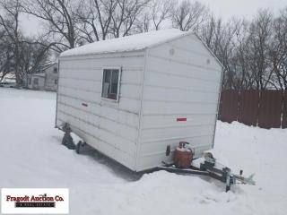 7' x 10' Homemade fish house, LP heater, self