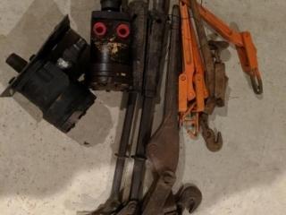 Chain binders, staple pullers, hydraulic pump