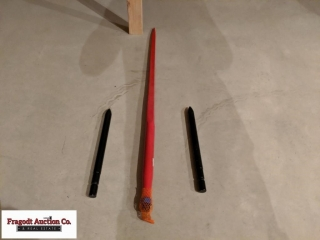 Bale spears, 1 large, 2 small. Item is located ne.