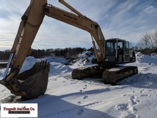 1992 Komatsu PC220LC excavator, 7,772 hours, steel