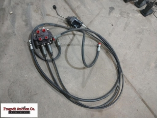 Joystick loader valve set up for closed center hyd