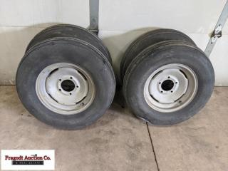 (4) 7.60-15 used trailer tires, still decent tread