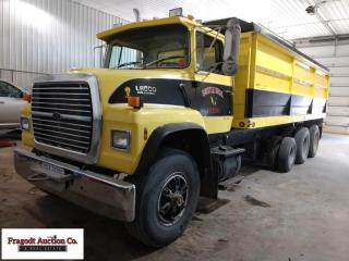 1990 Ford L8000 Tri Axle Grain Truck, Ford 240 hp