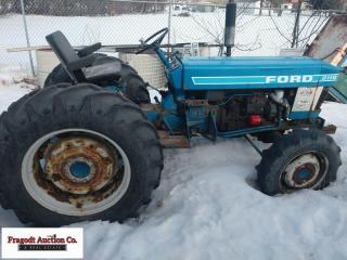 Ford 2110 MFWD tractor, *Has water in oil*, 13.6 x