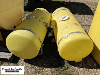 (2) Demco approx. 100 gallon saddle tanks, (1 has