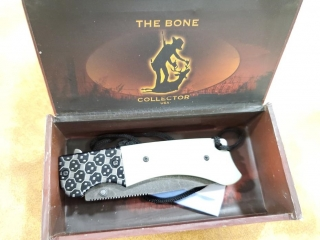 Bone Collector Folding Knife Wh G-10, 7 3/4