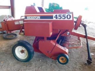 Hesston 4550 twine tie square baler, 540 PTO