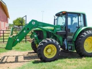 2005-6 John Deere 6420 MFW tractor w/John Deere