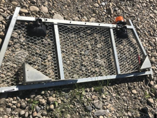 Galvanized Headache Rack with Strobe and Lights UNRESERVED