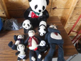 7 Premium Panda Bear Stuffed Animals