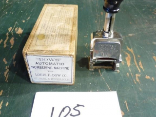 VINTAGE DOWS AUTOMATIC NUMBERING MACHINE STAMP