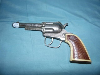 VINTAGE HUBLEY CAP GUN PISTOL
