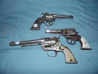 ANTIQUE CAP GUN PISTOL GUN PARTS GENE AUTRY