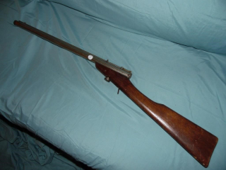 ANTIQUE BENJAMIN FRANKLIN MODEL F AIR RIFLE GUN