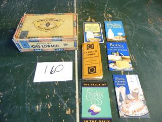 1909 LUMBER ADVERTSING & RECIPE BOOKLETS CIGAR BOX