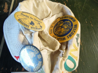 WELCOME WILDCATS HOMECOMING BUTTONS 60'S 70'S
