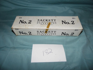 VINTAGE SACKETT NO.2 CIGARETTE CARTON WITH PACKS