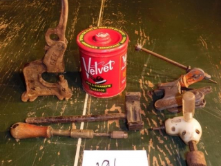 ANTIQUE TOOL AND MISC LOT