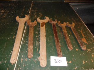antique steam engine/industrial wrenches