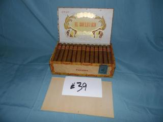 VINTAGE EL BOULEVARD CORONAS CIGAR BOX W/CIGARS