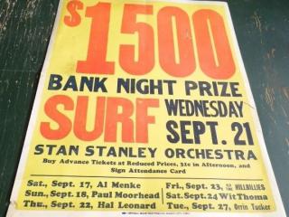 SURF BALLROOM POSTER STAN STANLEY ORCHESTRA