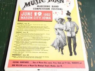 1962 NORTH IOWA BAND FESTIVAL POSTER MASON CITY