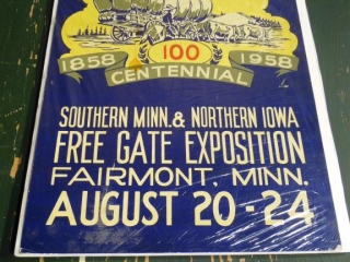 1958 FAIRMONT CENTENNIAL FAIR EXPOSITION POSTER